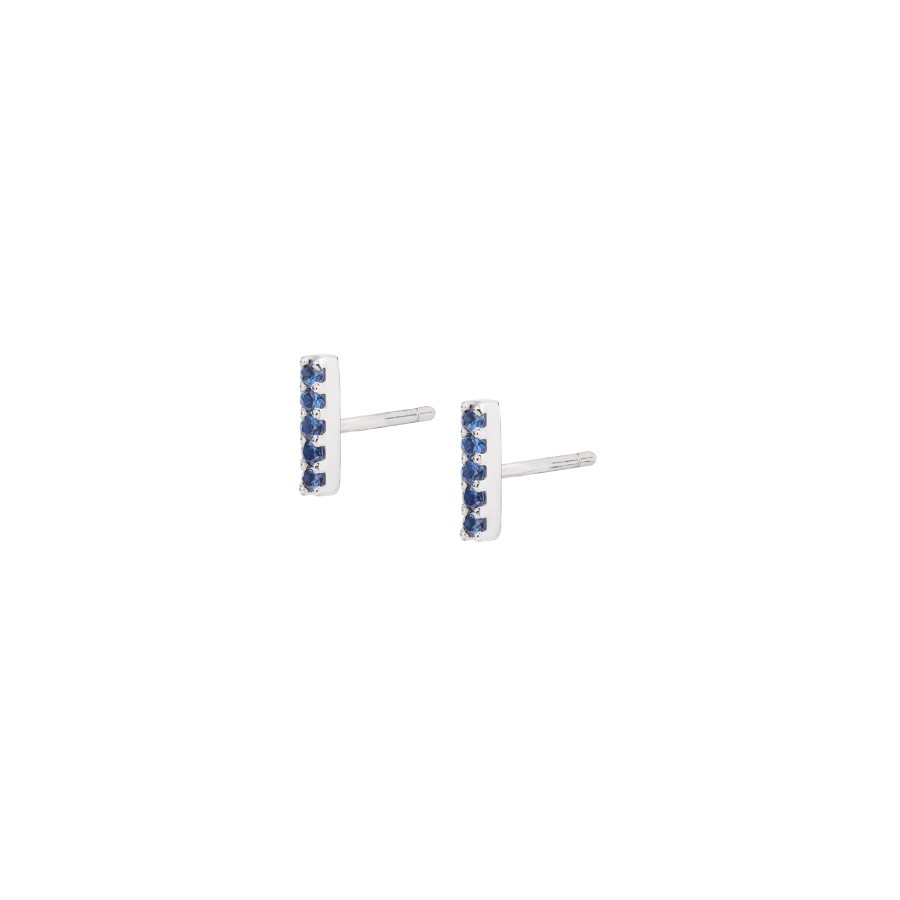 EARRINGS WITH BLUE SAPPHIRES